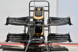 L'aileron avant d'une Haas F1 Team VF-19