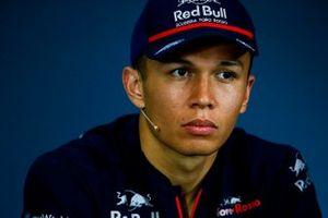 Alexander Albon, Toro Rosso, en conférence de presse