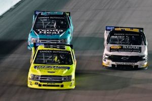 Matt Crafton, ThorSport Racing, Ford F-150 Ideal Door/Menards, Myatt Snider, ThorSport Racing, Ford F-150 Tenda Heal and Sheldon Creed, GMS Racing, Chevrolet Silverado Chevrolet Accessories