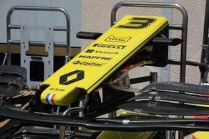 Detalle del alerón delantero del Renault R.S. 19
