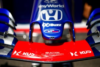 Front wing of Toro Rosso STR14 with new sponsor RDS