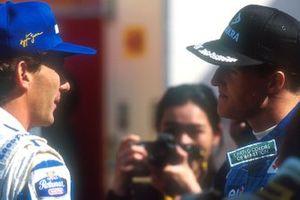 Ayrton Senna, Williams; Michael Schumacher, Benetton