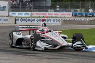 Will Power, Team Penske Chevrolet, met kapotte neus