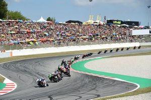 Moto3-Action in Barcelona