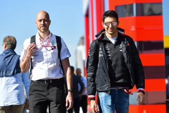 Esteban Ocon, Mercedes AMG F1 in the paddock