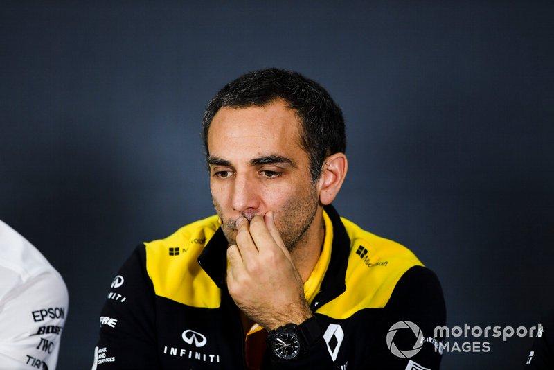 Cyril Abiteboul, Managing Director, Renault F1 Team, durante la conferenza stampa