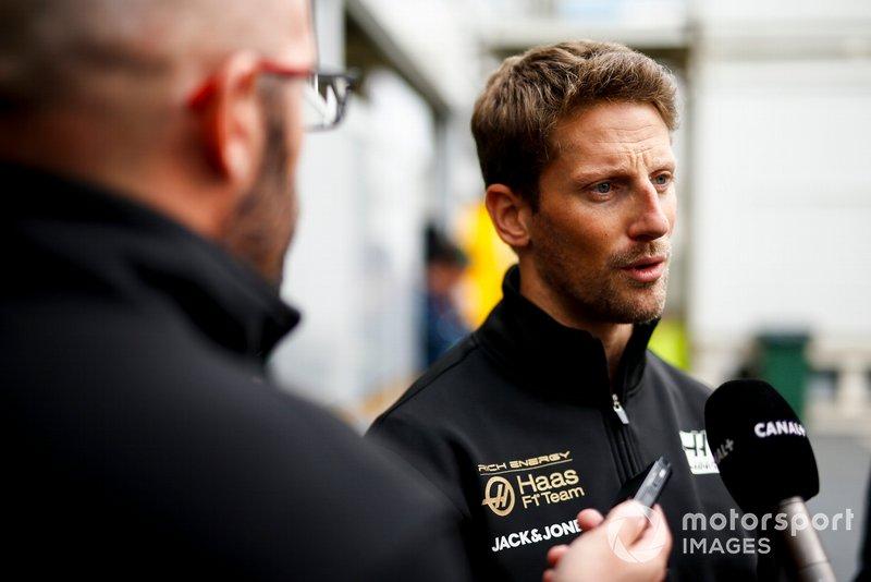 Romain Grosjean, Haas F1 parle avec les médias