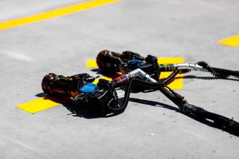 Ferrari Tyre guns in the pit lane