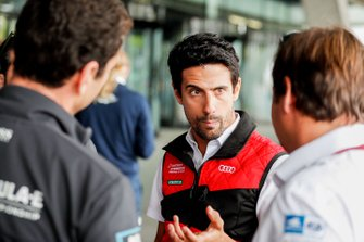 Lucas Di Grassi, Audi Sport ABT Schaeffler, talks to the press