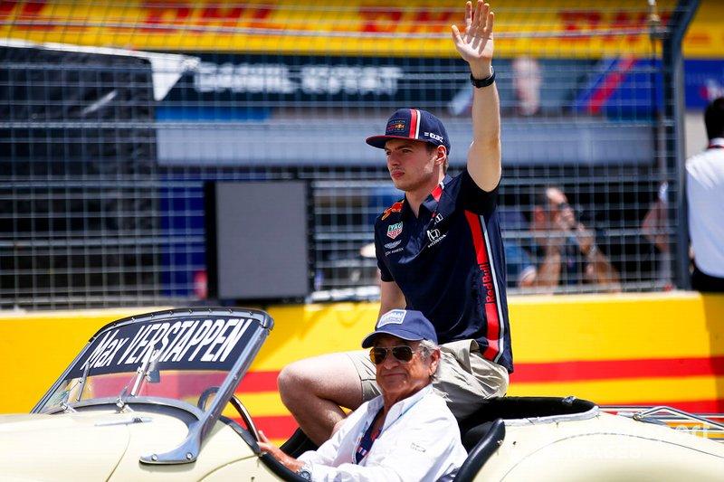 Max Verstappen, Red Bull Racing, alla parata dei piloti
