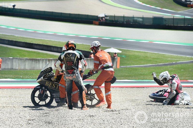 Romano Fenati, Team O, Andrea Migno, Bester Capital Dubai crash