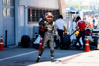 Kevin Magnussen, Haas F1 celebrates in Parc Ferme
