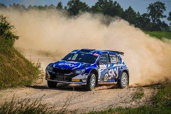 Łukasz Habaj, Daniel Dymurski, Skoda Fabia R5, FIA ERC, Rally Poland