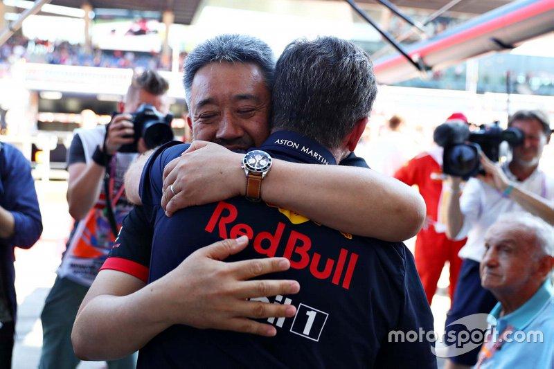 Christian Horner, Red Bull Racing Boss, Masashi Yamamoto Honda F1 Managing Director