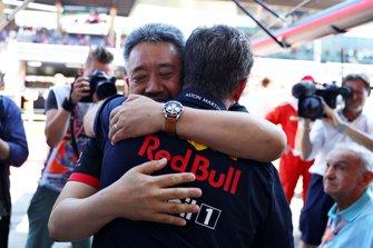 Christian Horner, Red Bull Racing Boss, Masashi Yamamoto Honda Director General de F1