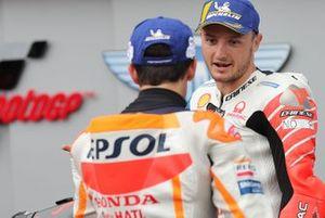 Polesitter Marc Marquez, Repsol Honda Team, third place Jack Miller, Pramac Racing