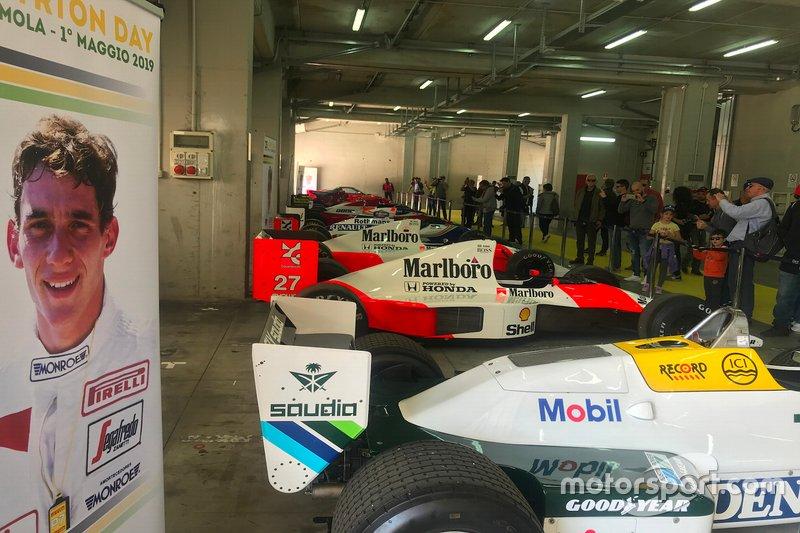 Le monoposto di Ayrton Senna, in esposizione