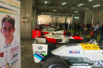Los monoplazas de Senna expuestos