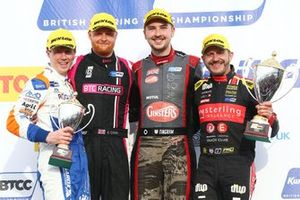 Podium, Rory Butcher, AmD Tuning Honda Civic, Josh Cook, BTC Racing Honda Civic, Tom Ingram, Speedworks Motorsport Toyota Corolla and Rob Collard, Power Maxed Racing Vauxhall