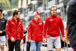Mick Schumacher in pit lane