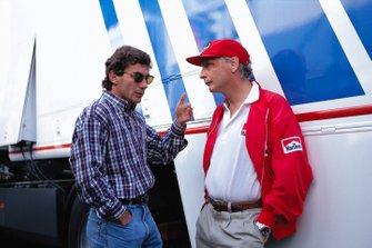 Ayrton Senna, Niki Lauda