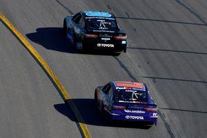 Erik Jones, Joe Gibbs Racing, Toyota Camry Sirius XM and Denny Hamlin, Joe Gibbs Racing, Toyota Camry FedEx Ground