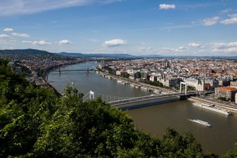 A view of Budapest from Citadella
