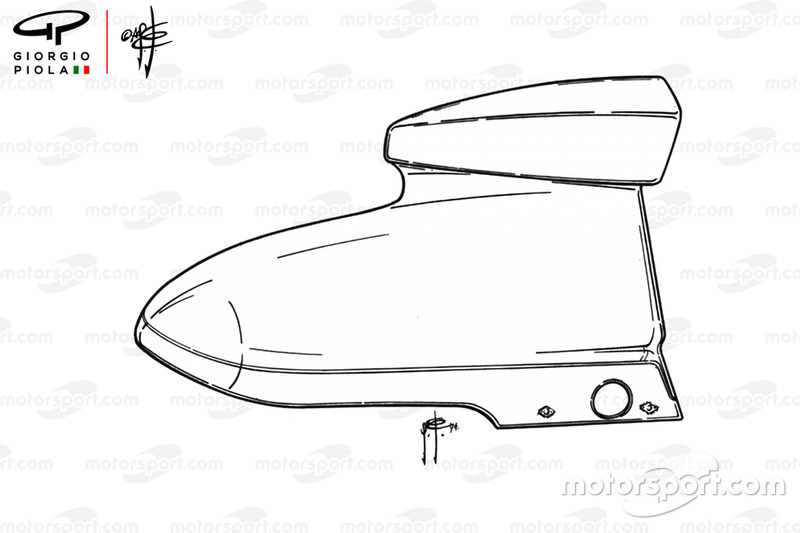 McLaren M23 airbox