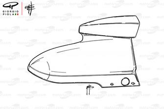 McLaren M23 caja de aire
