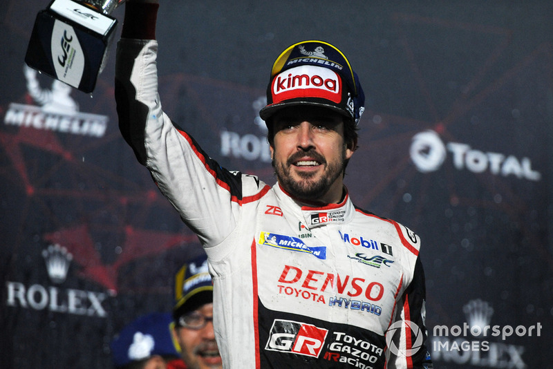 Second place overall #8 Toyota Gazoo Racing Toyota TS050: Fernando Alonso