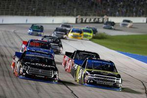 Noah Gragson, Kyle Busch Motorsports, Toyota Tundra Safelite AutoGlass, Justin Haley, GMS Racing, Chevrolet Silverado Fraternal Order Of Eagles