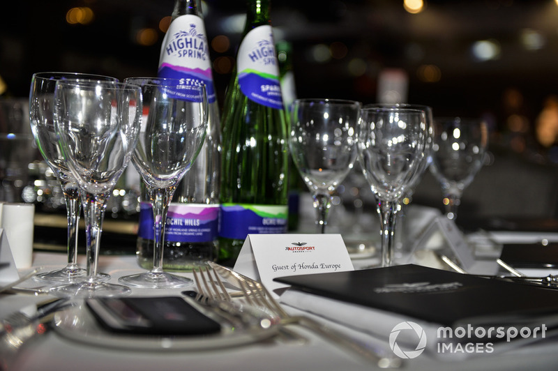 Table setting for Honda Europe