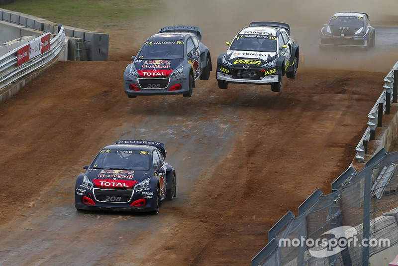 Sebastien Loeb, Team Peugeot Total, Timmy Hansen, Team Peugeot Total, Timur Timerzyanov, GRX Taneco