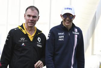 Alan Permane, Renault Sport F1 Team Race Engineer and Esteban Ocon, Racing Point Force India F1 Team