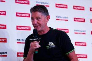 Motorbike and sidecar racer John Holden talks to Stuart Codling on the Autosport Stage