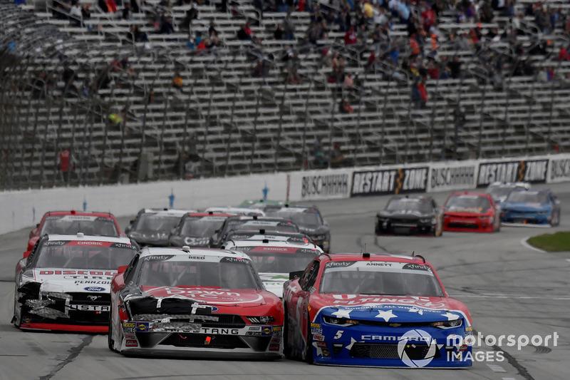 Michael Annett, JR Motorsports, Chevrolet Camaro Pilot Flying J, Ryan Reed, Roush Fenway Racing, Ford Mustang Drive Down A1C Lilly Diabetes