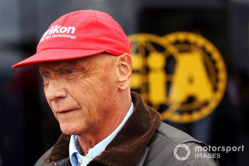 Niki Lauda vor zehn Jahren ...