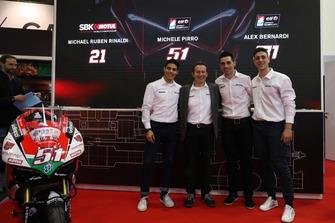 Michael Ruben Rinaldi, Michele Pirro, Alex Bernardi e Marco Barnabò, Team Principal Barni Racing Team