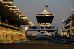 Yas Marina Circuit view during Sunset