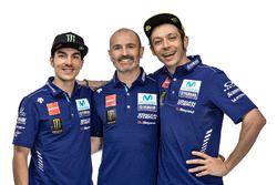 Valentino Rossi, Yamaha Factory Racing, Maverick Viñales, Yamaha Factory Racing, Massimo Meregalli, Yamaha Factory Racing