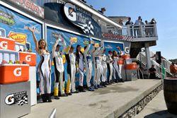 #3 Corvette Racing Chevrolet Corvette C7.R, GTLM: Antonio Garcia, Jan Magnussen, #66 Chip Ganassi Racing Ford GT, GTLM: Dirk Müller, Joey Hand, #911 Porsche Team North America Porsche 911 RSR, GTLM: Patrick Pilet, Nick Tandy