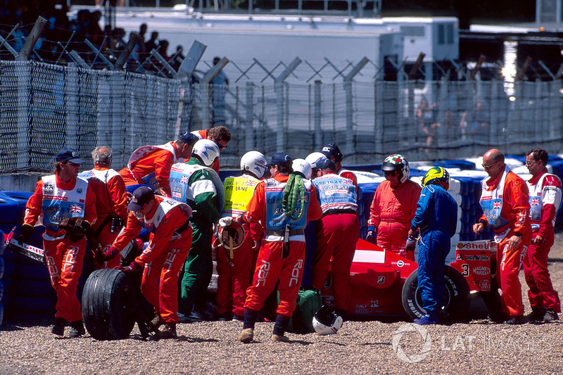 Michael Schumacher, Ferrari, incidente