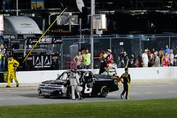 John Hunter Nemechek, NEMCO Motorsports, Chevrolet Silverado on pit road after the race
