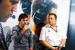 Fernando Alonso, McLaren, Zak Brown, Executive Director, McLaren Technology Group, host a press conf