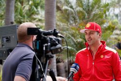 Fabian Coulthard, Team Penske Ford with media