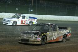 Noah Gragson, Kyle Busch Motorsports, Toyota Tundra Safelite AutoGlass and Nick Hoffman, Copp Motorsports, Chevrolet Silverado