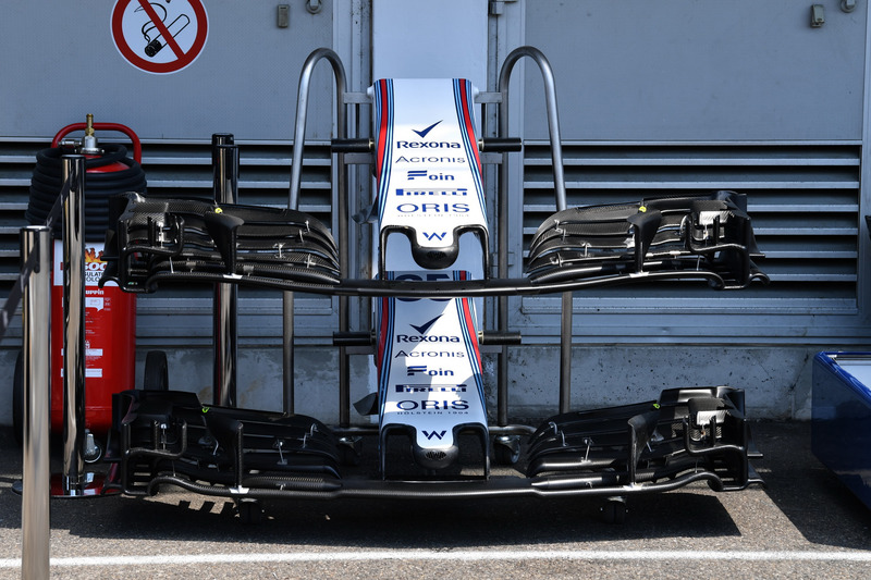 Nez et ailerons avant de la Williams FW41