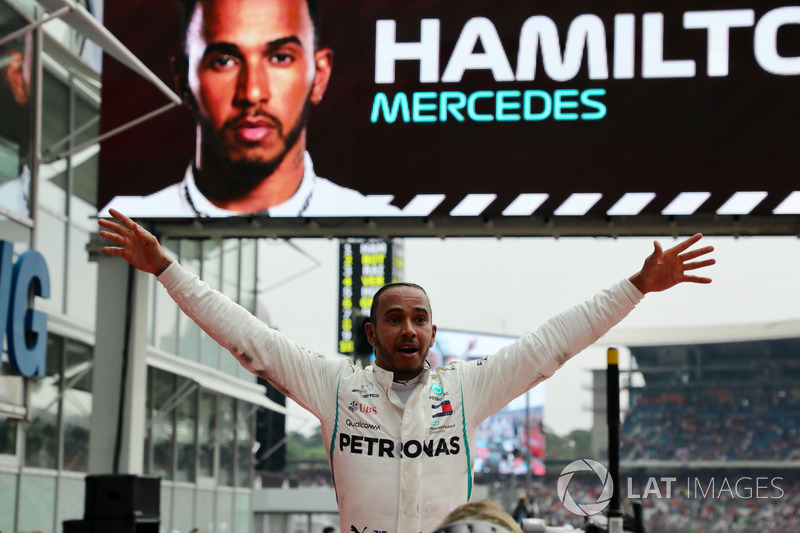 El ganador: Lewis Hamilton, Mercedes-AMG F1 W09