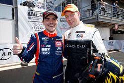 Norbert Michelisz, BRC Racing Team Hyundai i30 N TCR, Thed Björk, YMR Hyundai i30 N TCR