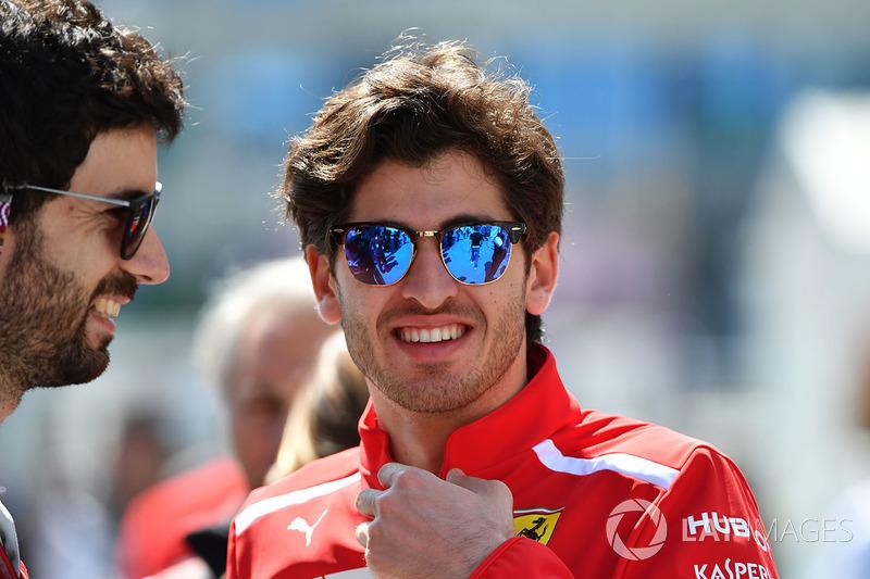 Antonio Giovinazzi, Tester e pilota di riserva Ferrari